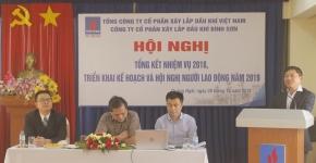 PVC - Bình Sơn tổng kết nhiệm vụ sản xuất kinh doanh năm 2018,  triển khai kế hoạch và Hội nghị Người lao động năm 2019